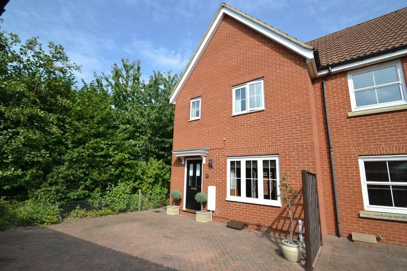 3 Bedrooms Semi Detached House for rent in Northern Rose Close, Bury St. Edmunds
