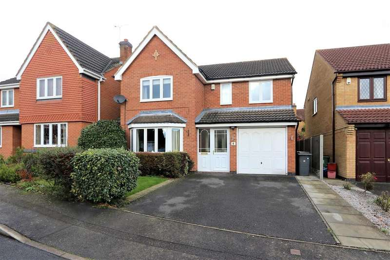 4 Bedrooms Property for sale in Leith Close, Ashby-De-La-Zouch, LE65 1HN