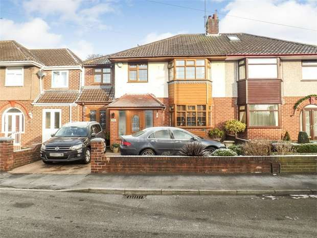 4 Bedrooms Semi Detached House for sale in Fairway, Huyton, Liverpool, Merseyside