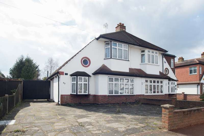 3 Bedrooms Semi Detached House for sale in Palmer Avenue, Cheam, Sutton, SM3