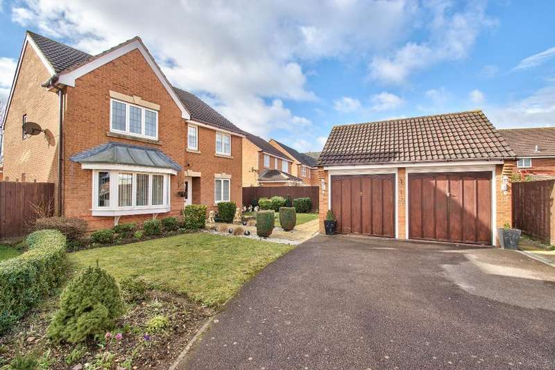 4 Bedrooms Detached House for sale in Halesowen Drive, Abbeyfields, Elstow, MK42 9GG