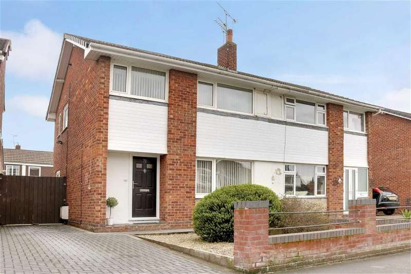 3 Bedrooms Semi Detached House for sale in Coleridge Way, Crewe