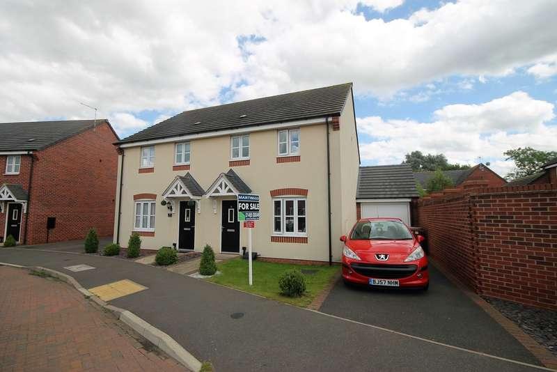 3 Bedrooms Semi Detached House for sale in Triumph Road, Hinckley LE10