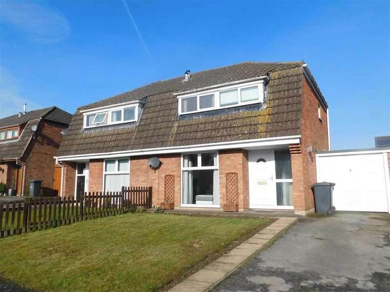 3 Bedrooms Semi Detached House for sale in ST BERNARDS CLOSE, BROUGHTON, BRIGG