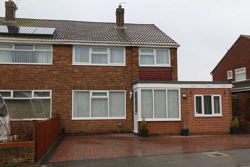 3 Bedrooms Semi Detached House for sale in Castleton Road, Hartlepool, Durham, TS25 1EA