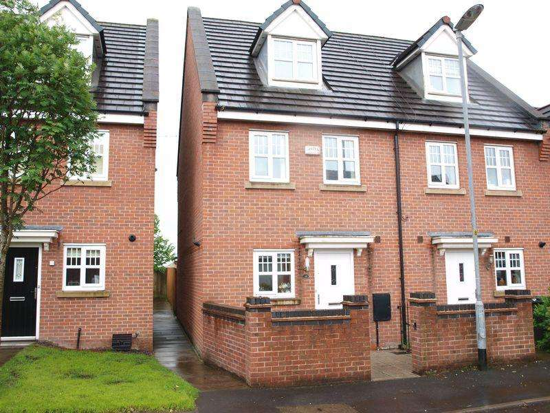 3 Bedrooms End Of Terrace House for sale in Coppy Bridge Drive, Firgrove, Rochdale OL16 3AR