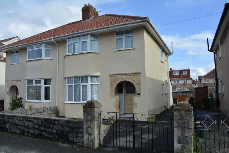 3 Bedrooms Semi Detached House for sale in Woodstock Road, Weston-super-Mare