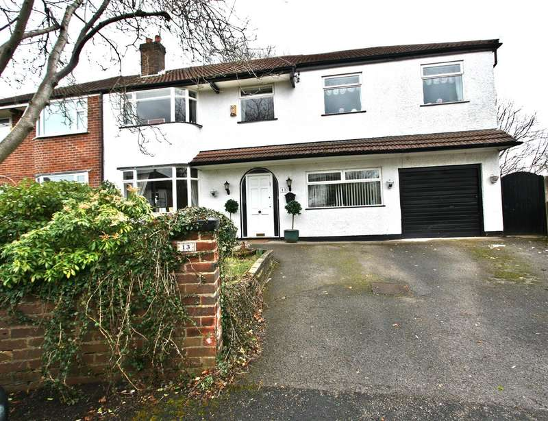 4 Bedrooms Semi Detached House for sale in Ravens Close, Prestwich