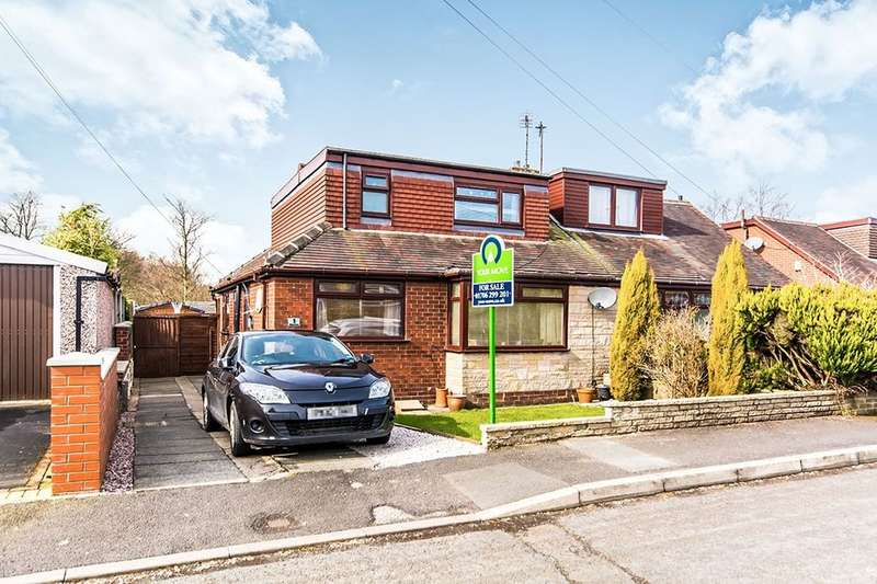 3 Bedrooms Semi Detached Bungalow for sale in Chiltern Close, Shaw, Oldham, OL2