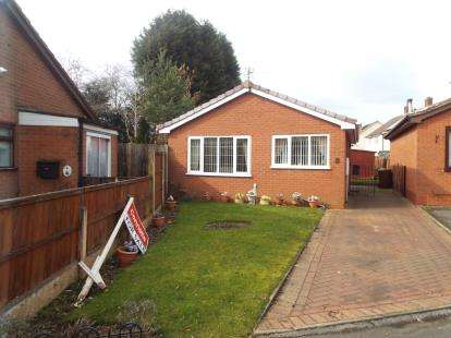 2 Bedrooms Bungalow for sale in Wordsworth Close, Cannock, Staffordshire