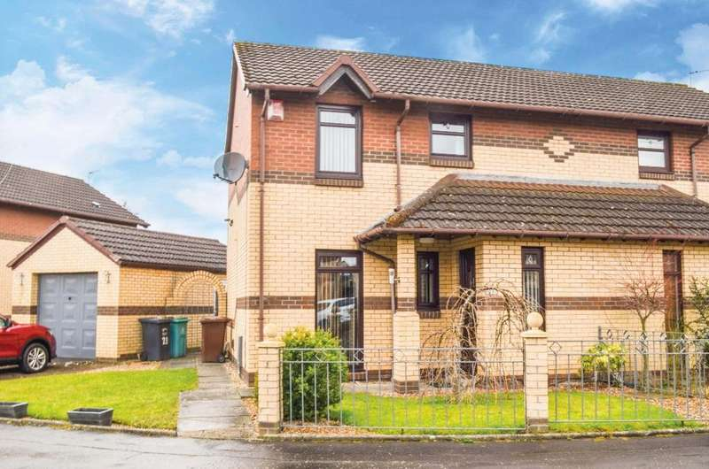 3 Bedrooms Semi Detached House for sale in Cameronian Place, Bellshill, North Lanarkshire, ML4 2UG