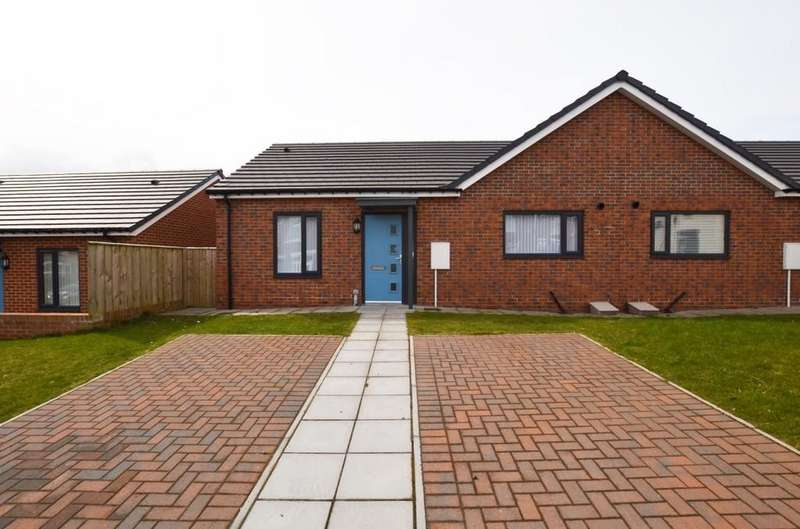 2 Bedrooms Semi Detached Bungalow for sale in Bishops Court, Stanley, County Durham