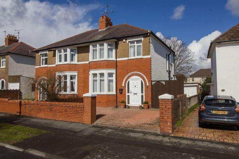 3 Bedrooms Semi Detached House for sale in Wordsworth Avenue, Penarth