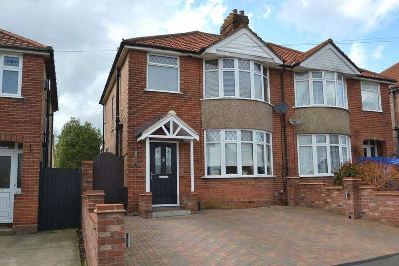 3 Bedrooms Semi Detached House for sale in Pinecroft Road, Ipswich, IP1 6BW