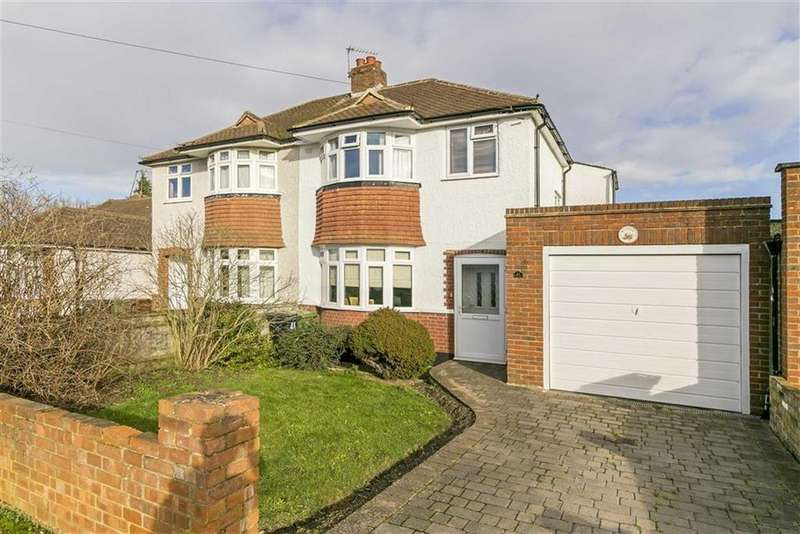 3 Bedrooms Semi Detached House for sale in Riverview Road, Ewell Court, Surrey