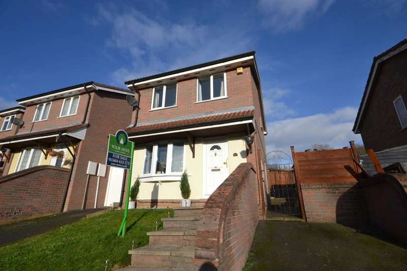 3 Bedrooms Detached House for sale in East Bank, Thorplands Brook, Northampton, NN3