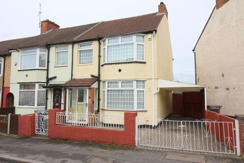 3 Bedrooms End Of Terrace House for sale in Shelley Road, Luton, Bedfordshire, LU4 0JA