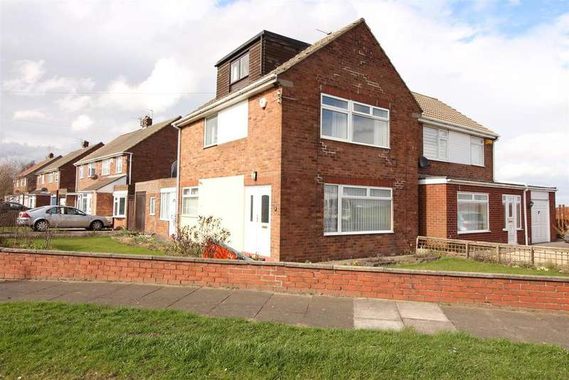 3 Bedrooms Semi Detached House for sale in Allendale Crescent, Shiremoor, Newcastle Upon Tyne