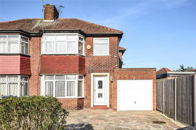 3 Bedrooms Semi Detached House for sale in Braithwaite Gardens, Stanmore, Middlesex, HA7