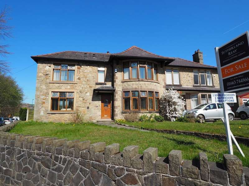 3 Bedrooms Semi Detached House for sale in Low Leighton Road, New Mills, High Peak, Derbyshire, SK22 4PG