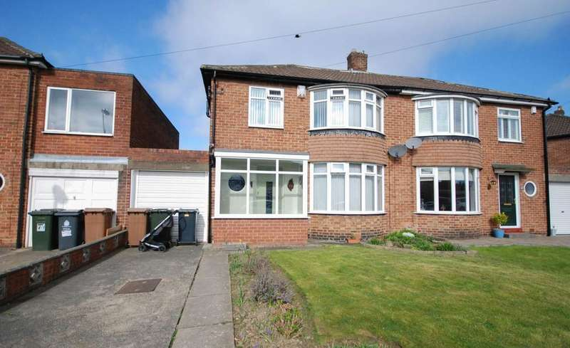 3 Bedrooms Semi Detached House for sale in Birchwood Avenue, Gosforth
