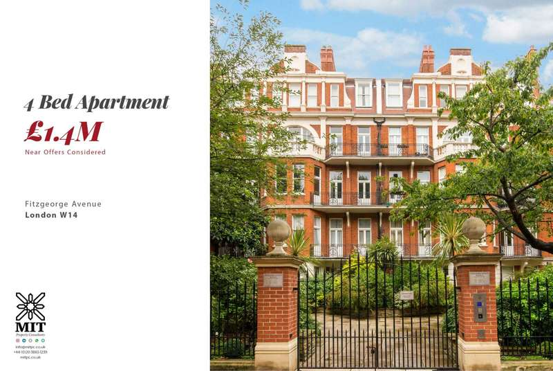 4 Bedrooms Apartment Flat for sale in Fitzgeorge Avenue, West Kensington