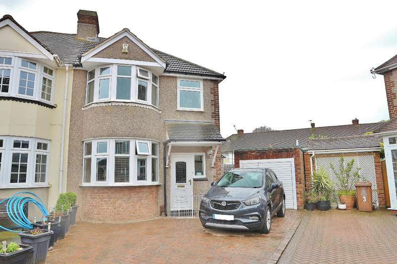 3 Bedrooms Semi Detached House for sale in Mayplace Close, Barnehurst, Kent, DA7 6DT