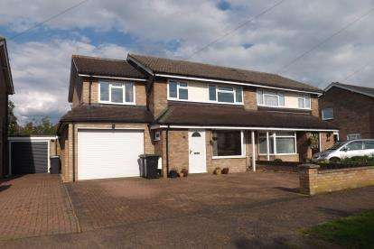 4 Bedrooms Semi Detached House for sale in Western Way, Sandy, Bedfordshire