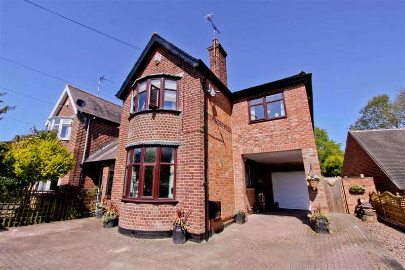 4 Bedrooms Semi Detached House for sale in Wallace Drive, Groby, Leicester