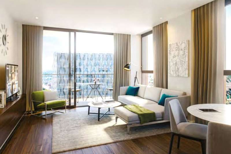 3 Bedrooms Apartment Flat for sale in Glacier House, The Residence, 40-42 Ponton Road, Nine Elms, SW8