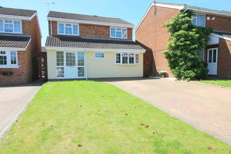 4 Bedrooms Detached House for sale in Buckingham Drive, Luton, Bedfordshire, LU2 9RD