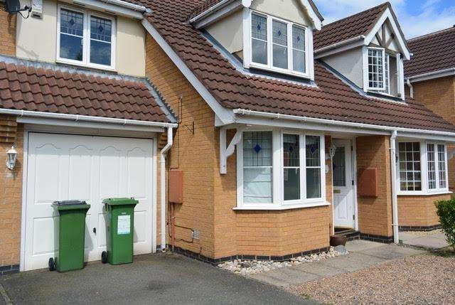 3 Bedrooms Semi Detached House for sale in Pendragon Way, Leicester Forest East, Leicester. LE3