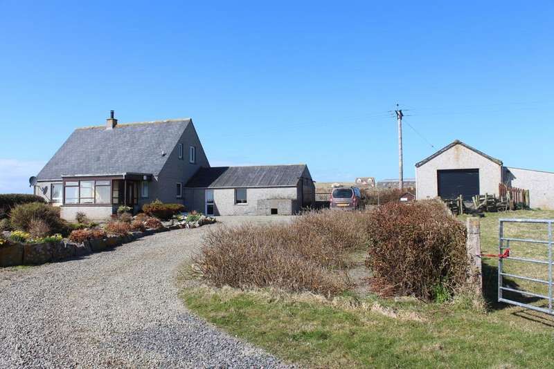 4 Bedrooms Detached House for sale in Plovehall, Aikeskaill Road, Deerness, Orkney KW17