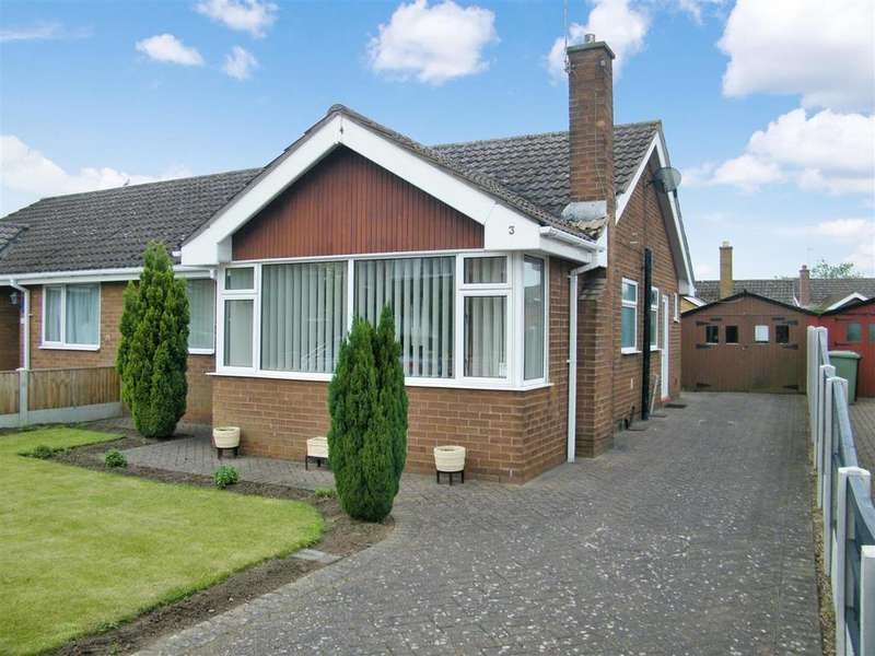 2 Bedrooms Semi Detached Bungalow for sale in Hawksdale Close, Grantham