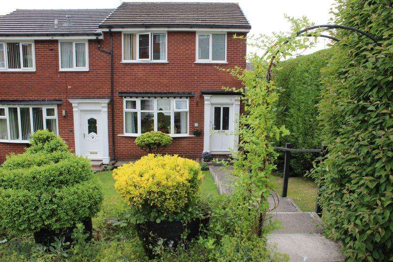 3 Bedrooms End Of Terrace House for sale in Whittaker Drive, Smithybridge, Littleborough, OL15 8QR