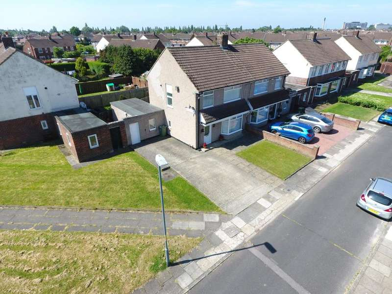 3 Bedrooms Semi Detached House for sale in Royston Close, Roseworth, Stockton-On-Tees, TS19
