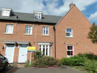 3 Bedrooms Terraced House for sale in Crowson Drive, Quorn, Loughborough, Leicestershire