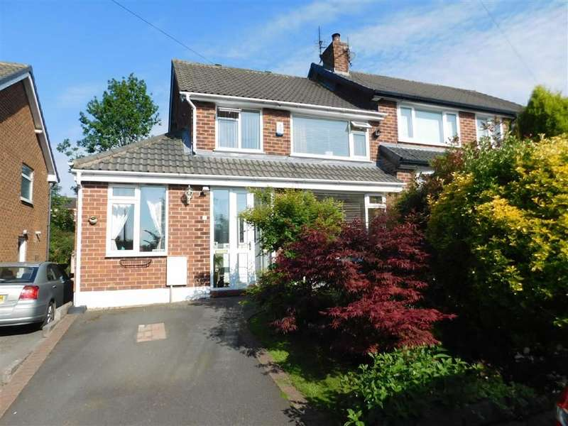 4 Bedrooms Semi Detached House for sale in Henbury Drive, Woodley, Stockport