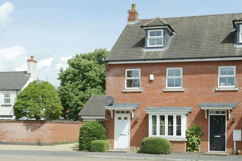3 Bedrooms Semi Detached House for sale in Folley Road, Kibworth Beauchamp, Leicestershire
