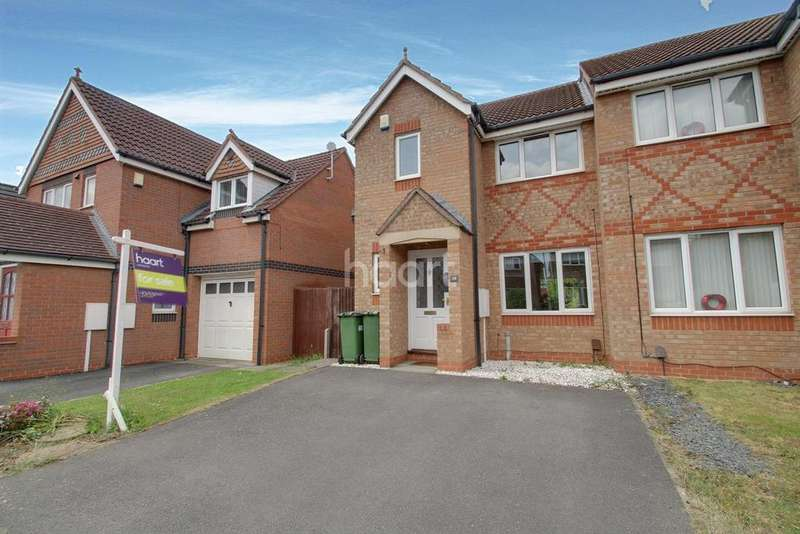 3 Bedrooms Semi Detached House for sale in Darien Way, Thorpe Astley, Leicester