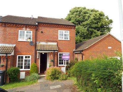 2 Bedrooms End Of Terrace House for sale in Ormsby Close, Luton, Bedfordshire