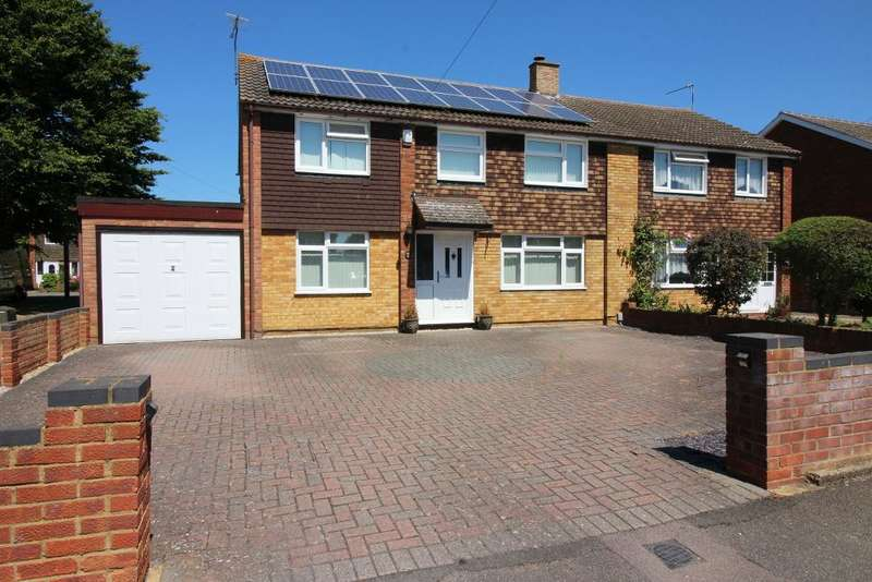 4 Bedrooms Semi Detached House for sale in Windsor Road, Barton Le Clay, Bedfordshire, MK45 4LZ