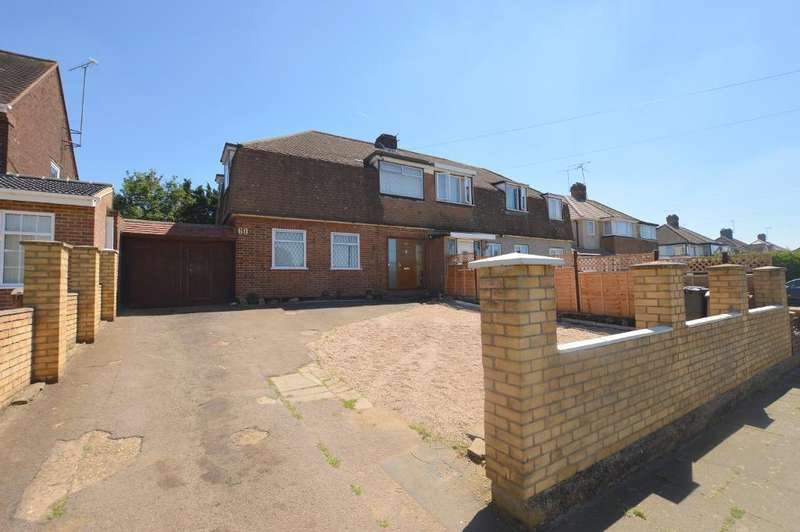 3 Bedrooms Semi Detached House for sale in Mayne Avenue, Luton, Bedfordshire, LU4 9LS