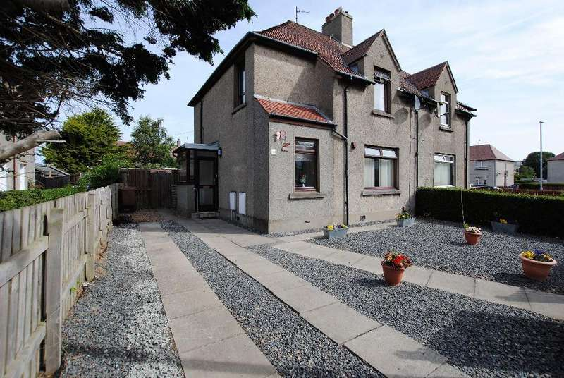 3 Bedrooms Semi Detached House for sale in Lochlea Avenue, Troon, South Ayrshire, KA10 7BN