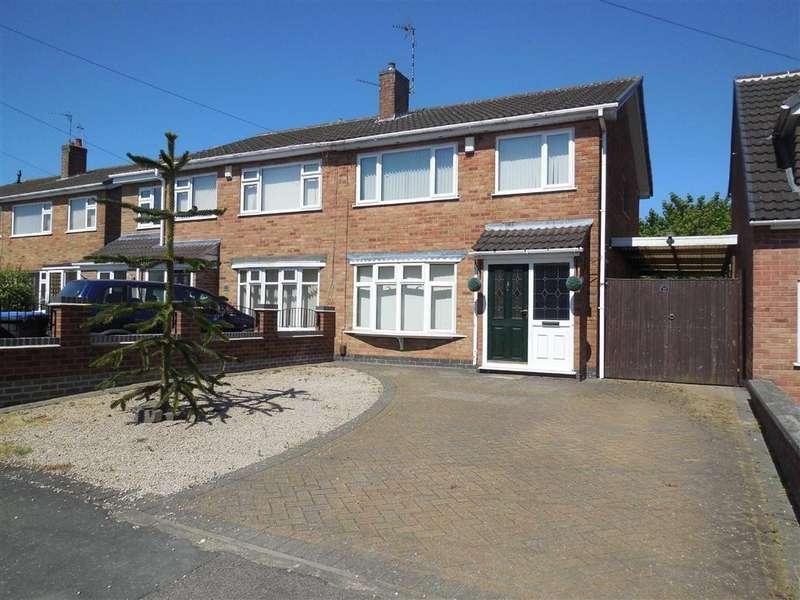 3 Bedrooms Semi Detached House for sale in Bearsden Crescent, Hinckley