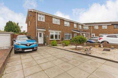 3 Bedrooms Semi Detached House for sale in Newbattle Place, Glasgow, Lanarkshire