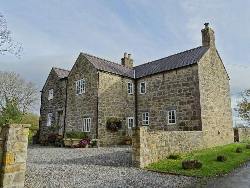 4 Bedrooms Farm House Character Property for sale in Ffordd Plas Ucha, Nercwys