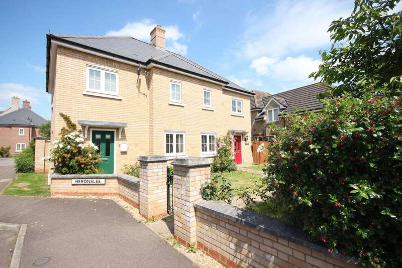 3 Bedrooms Semi Detached House for sale in Heronslee, Shefford, SG17