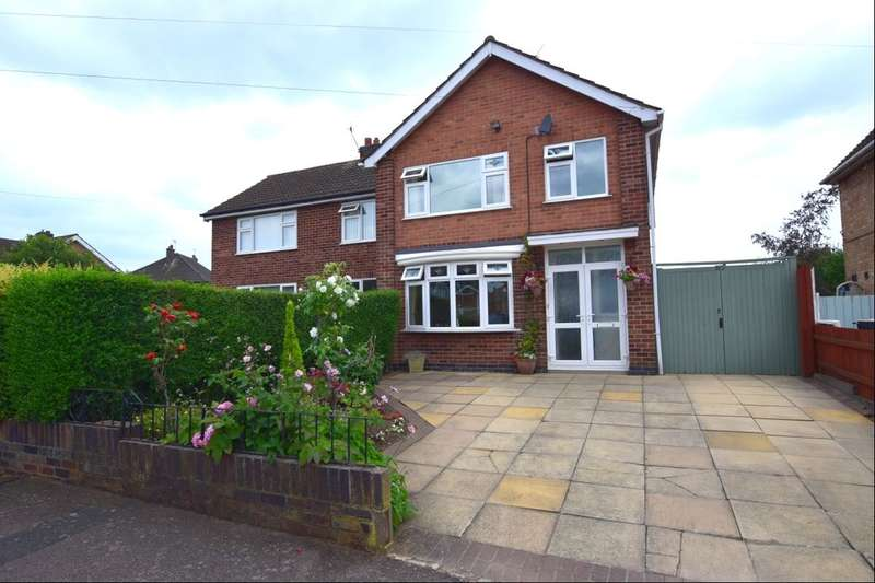 3 Bedrooms Semi Detached House for sale in Woodgate Drive, Birstall, Leicester, LE4