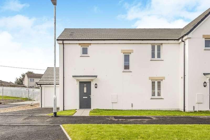 3 Bedrooms Semi Detached House for sale in Tehidin View, West Seaton, Camborne, TR14